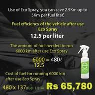 Eco Spray how to save vehicle fuel